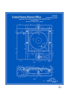 Record Player Patent - Blueprint
