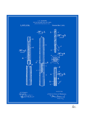 Pool Cue Patent - Blueprint