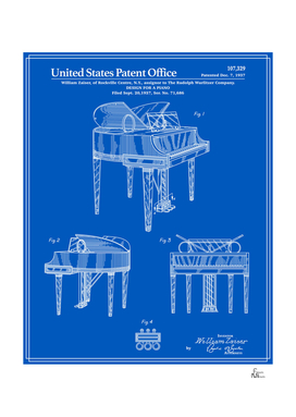 Piano Patent - Blueprint