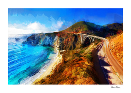 Pacific Coast Highway at Big Sur California