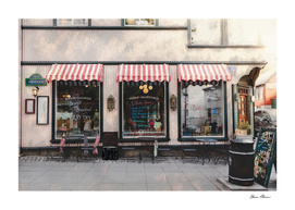 Vintage French Sidewalk Cafe