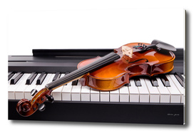 Violin on the keys