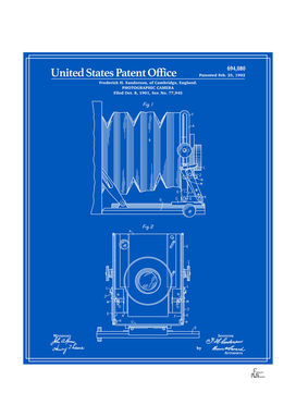 Camera Patent 1902 - Blueprint