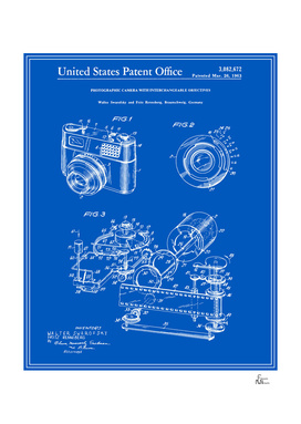 Camera Patent 1963 - Blueprint