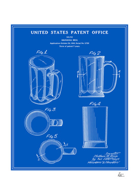 Beer Mug Patent - Blueprint