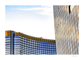 modern buildings with blue at Las Vegas, USA