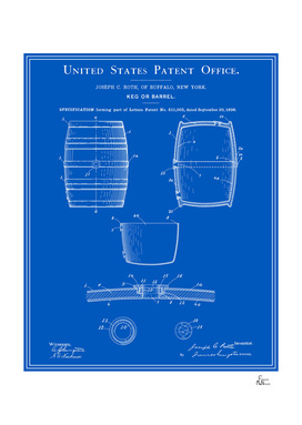 Beer Keg Patent - Blueprint