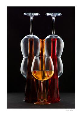 Still-life with three bottles