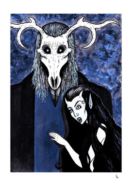 Cernunnos and Blodeuwedd  - The Horned God and Goddess