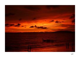 Sunset in Krabi Thailand
