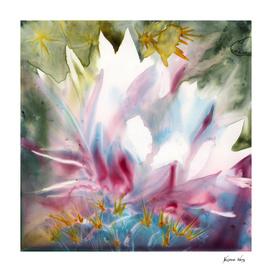 Cactus Optimist Watercolor Painting