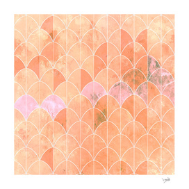 Mermaid scales in peach color