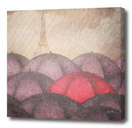 Art Umbrellas Rain Paris
