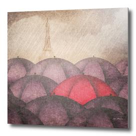 Art Umbrellas Rain Paris