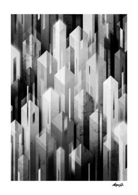 obelisk posture monochrome