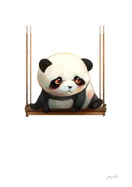 swinging panda