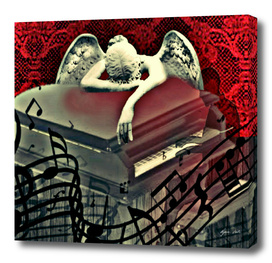 Sad Ghost Piano Man Befriends  The Angel Of Grief