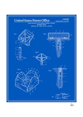 Baseball Base Patent - Blueprint