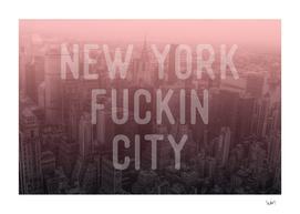 New York Fuckin City burgundy edition