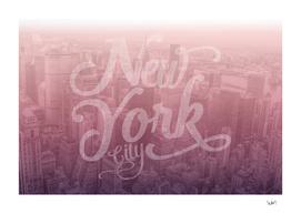 New York City typography burgundy edition