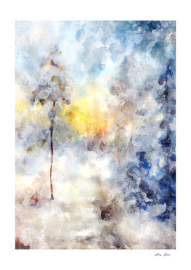 Abstrract Wall Art, Blue Art, Watercolor Art