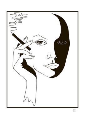 smoke and girl