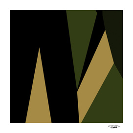 Green olive and black abstract