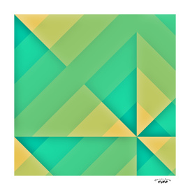 Yellow and green abstract