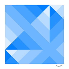 Blue Geometric Gradient