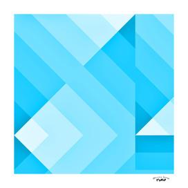 Turquoise Geometric Gradient