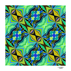 green blue and yellow abstract