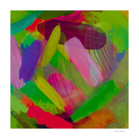 splash painting abstract texture in green pink red purple