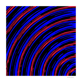 graffiti line drawing abstract pattern in blue red and black