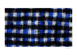 plaid pattern painting texture abstract in blue and black