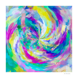 colorful splash painting abstract in pink green blue yellow
