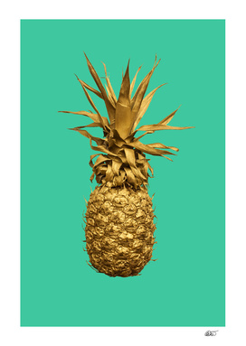 Turquoise and Gold Pineapple