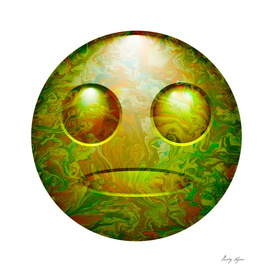 Smiley poster.Green emotion.