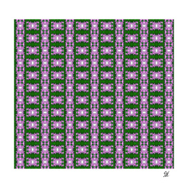 Purple & Green Lattice Pattern With White Diamonds