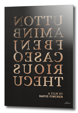 THE CURIOUS CASE... / alternative typographic movie poster