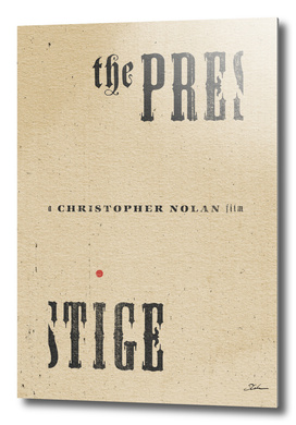 THE PRESTIGE / alternative typographic movie poster
