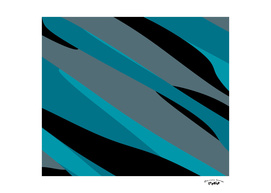 Turquoise gray and black abstract