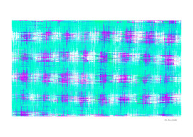 plaid pattern graffiti painting abstract in blue green pink