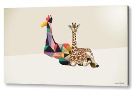 Walking Shadow Giraffe