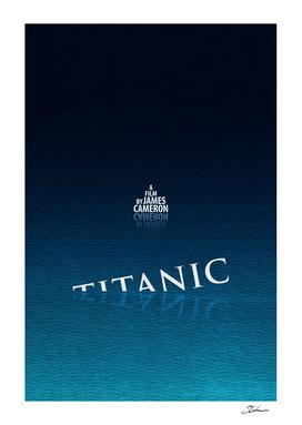 TITANIC / alternative typographic movie poster