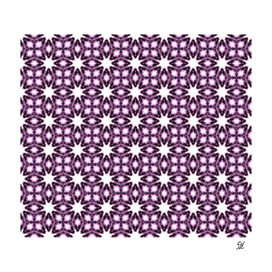 Detail Symmetrical Starburst & Diamond Design, Purple, White