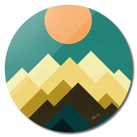 Geometric and minimalist landscape