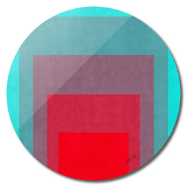 Blue and red gradient squares