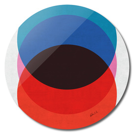 Circles in blue and red degrade