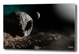 Asteroid Planet in Space
