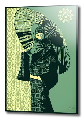 ASIAN WOMAN-GREEN VERSION